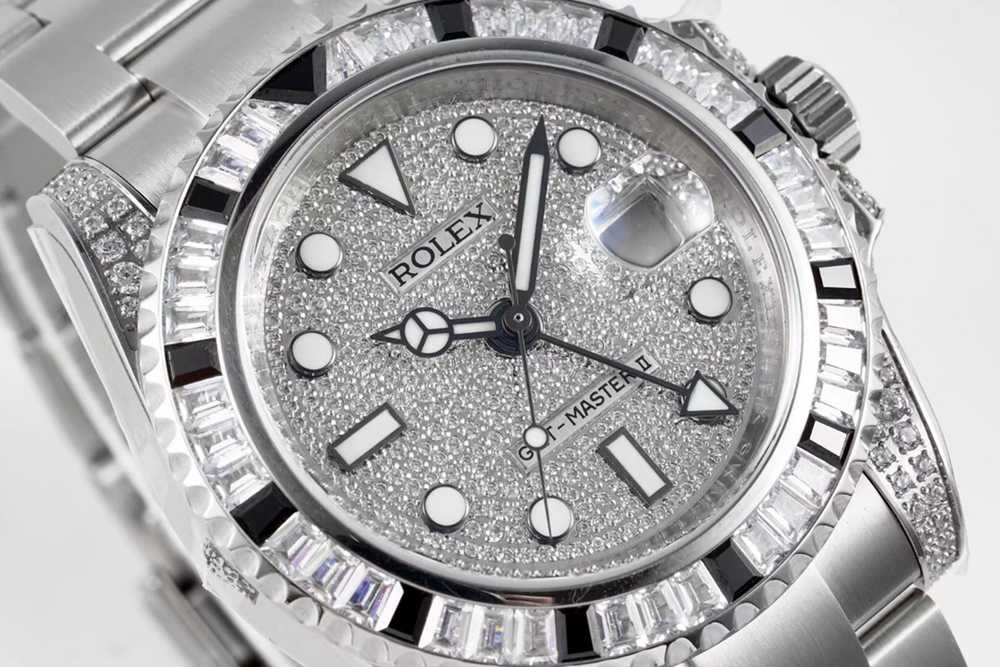 GMT Master II KOF 2836 40mm diamonds face bling bling WT205