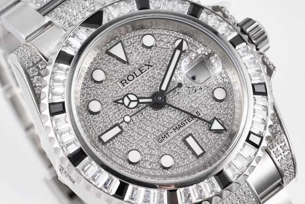 GMT Master II diamonds swarovski baguette bezel KOF 2836 WT235