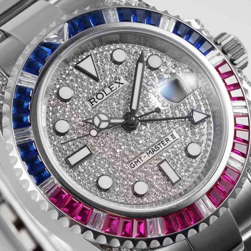 GMT master II KOF 2836 swarovski diamonds WT205