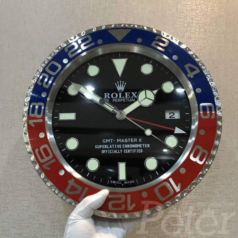 Wall Clock Rolex GMT Pepsi Battery