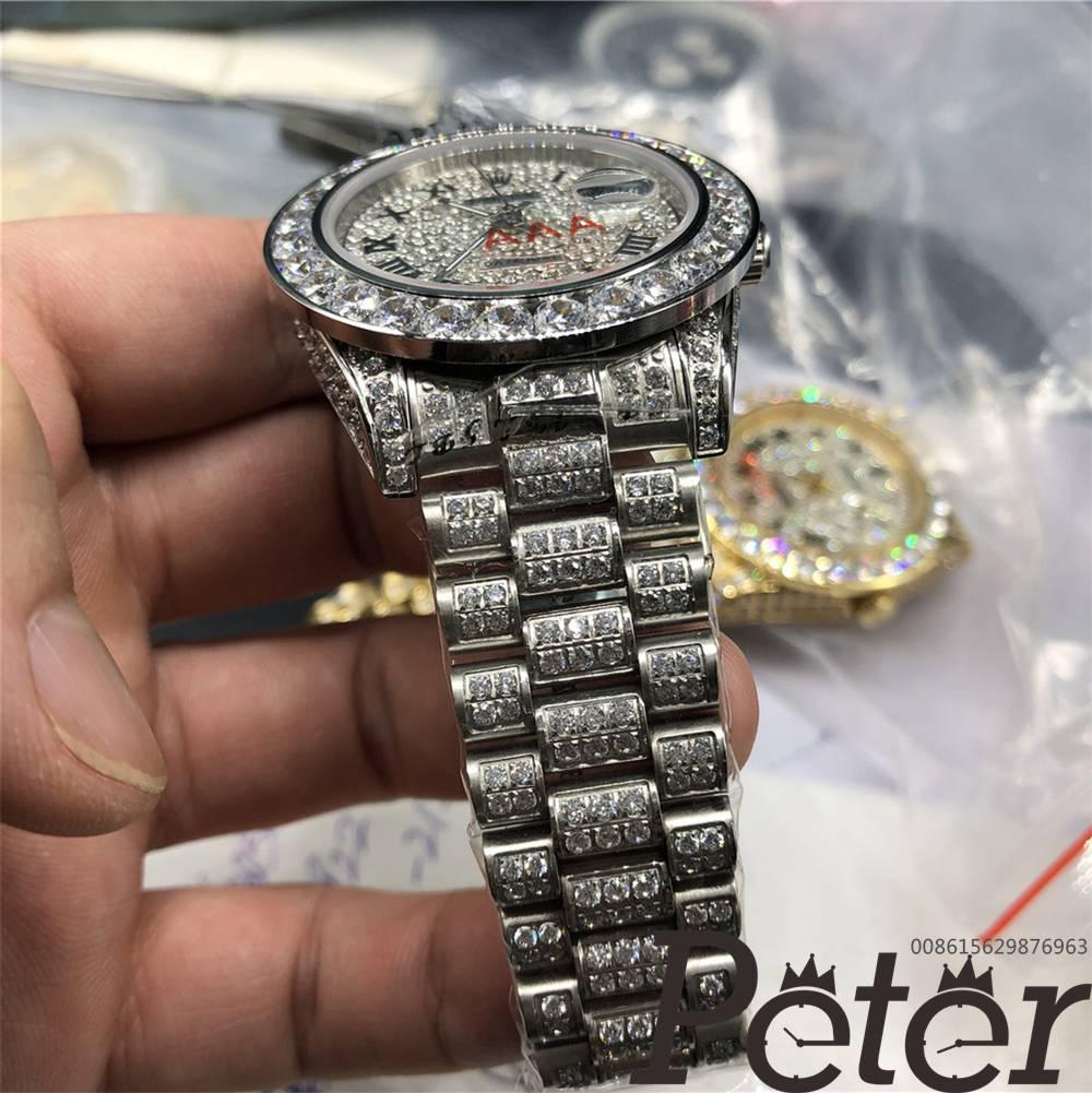 Datejust full diamonds silver case 40mm MH092