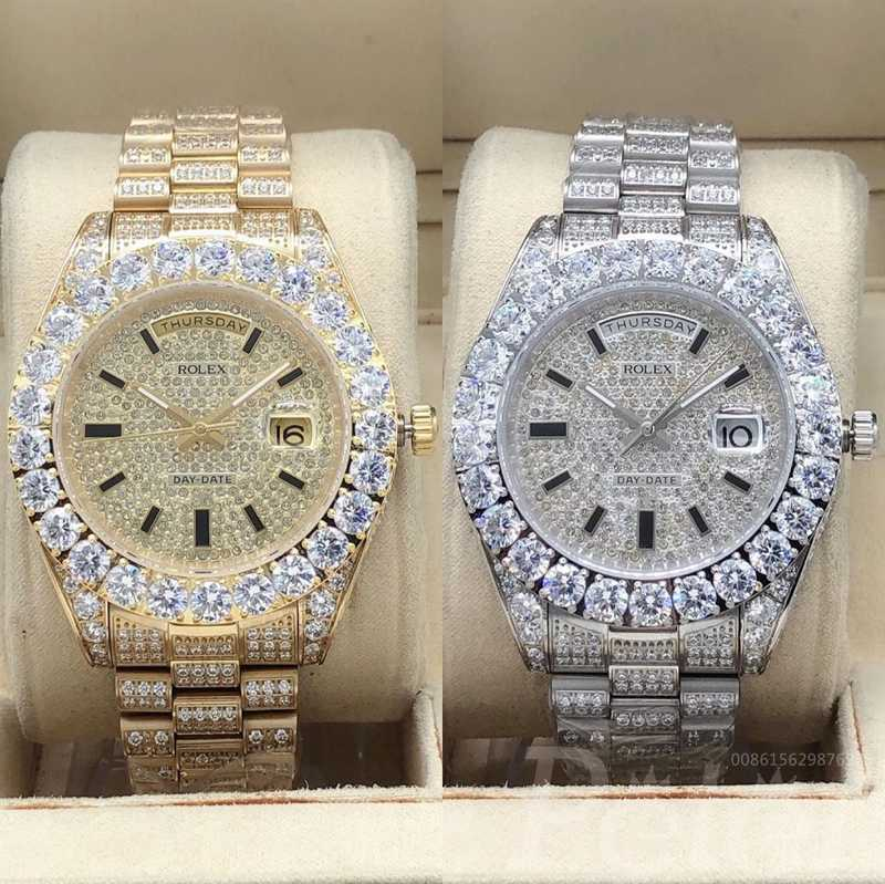 DayDate full iced out two colors S095