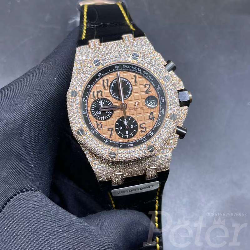AP Moissanite diamonds rose gold case full works chronograph 3126 DSAEKKK
