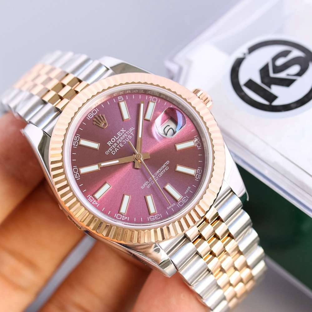 Datejust two tone rose gold case 39.5mm 2836 automatic KS110