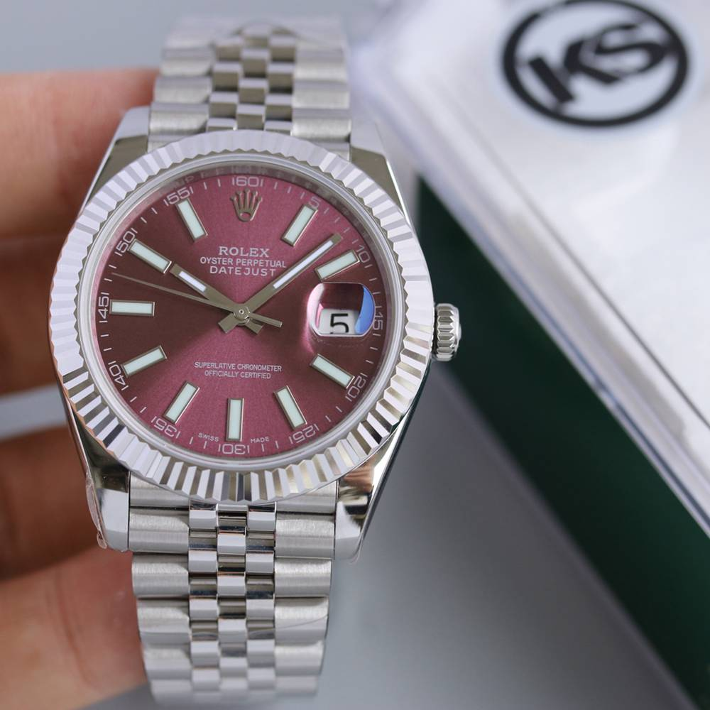 Datejust high grade purple dial jubilee band KS factory 2836 movement Swiss grade