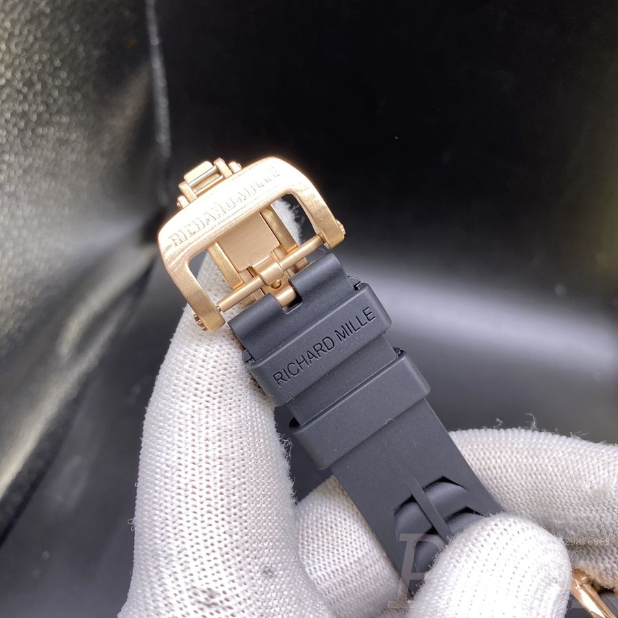 RM11-03 rose gold with black rubber strap AAA automatic XD060