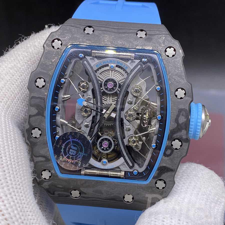 RM53-01 JB factory real tourbillon carcon case blue rubber expensive WT445