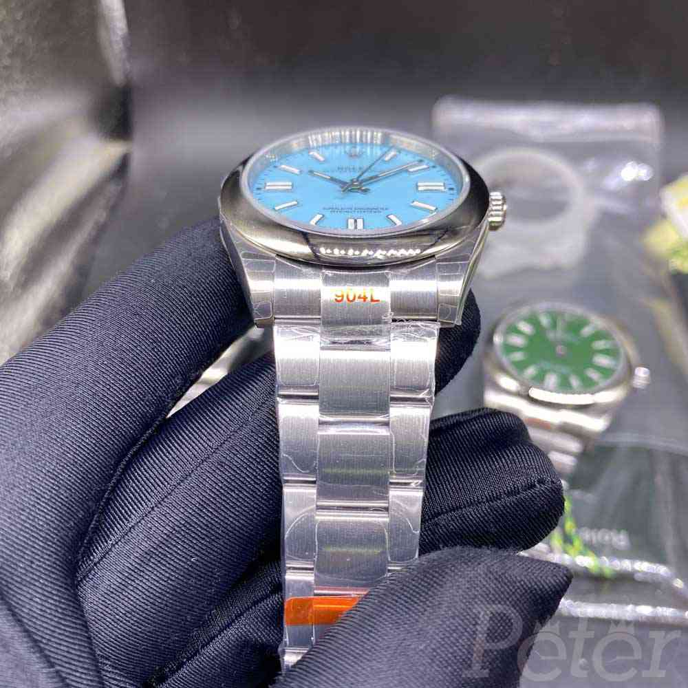 Oyster Perpetual silver/blue EW factory 3230 movement EW110