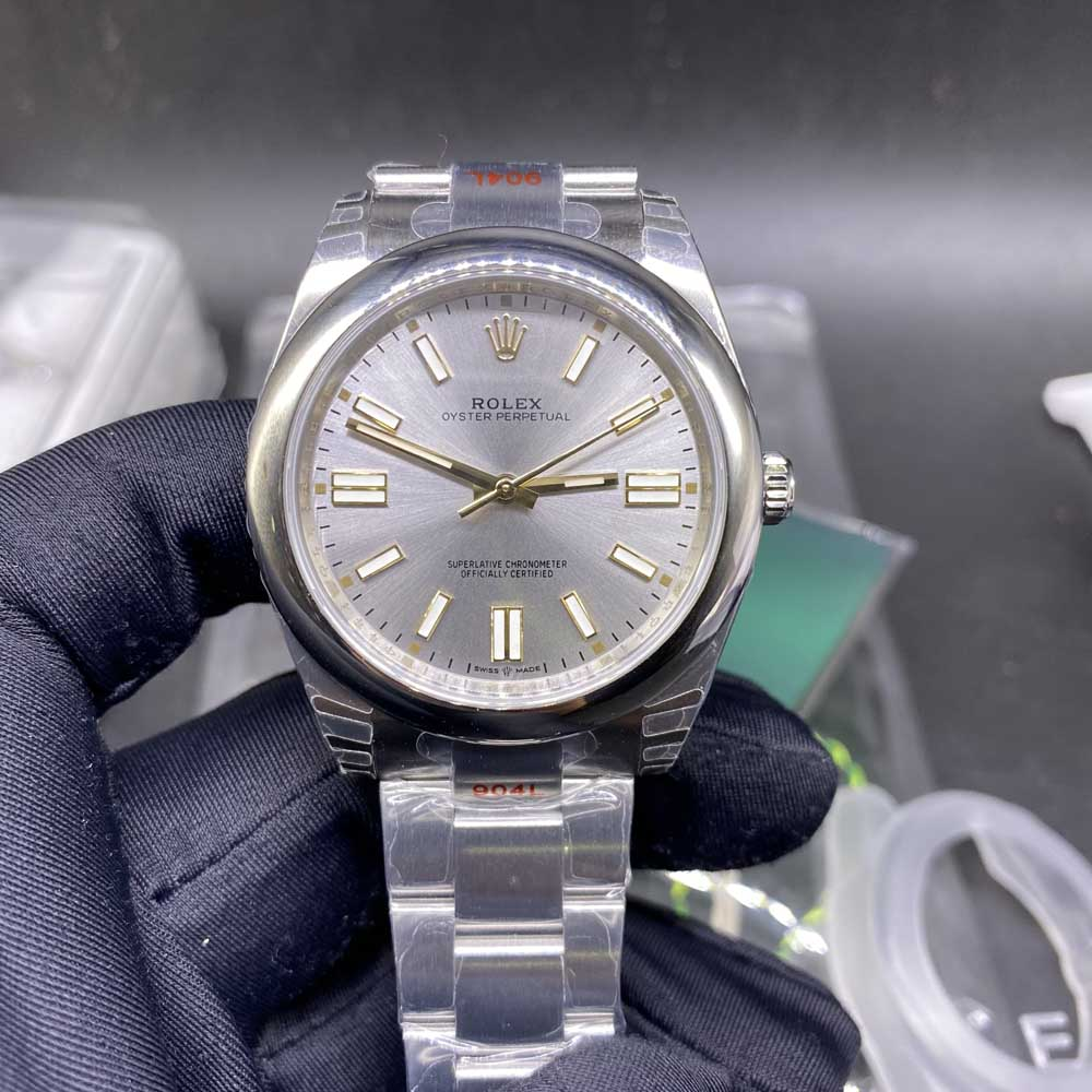 Oyster Perpetual silver case silver dial 39.5mm EW factory high quality M110