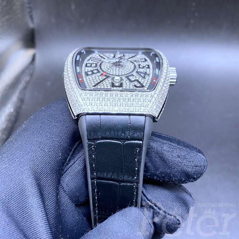 FM diamonds silver case automatic AAA WS072