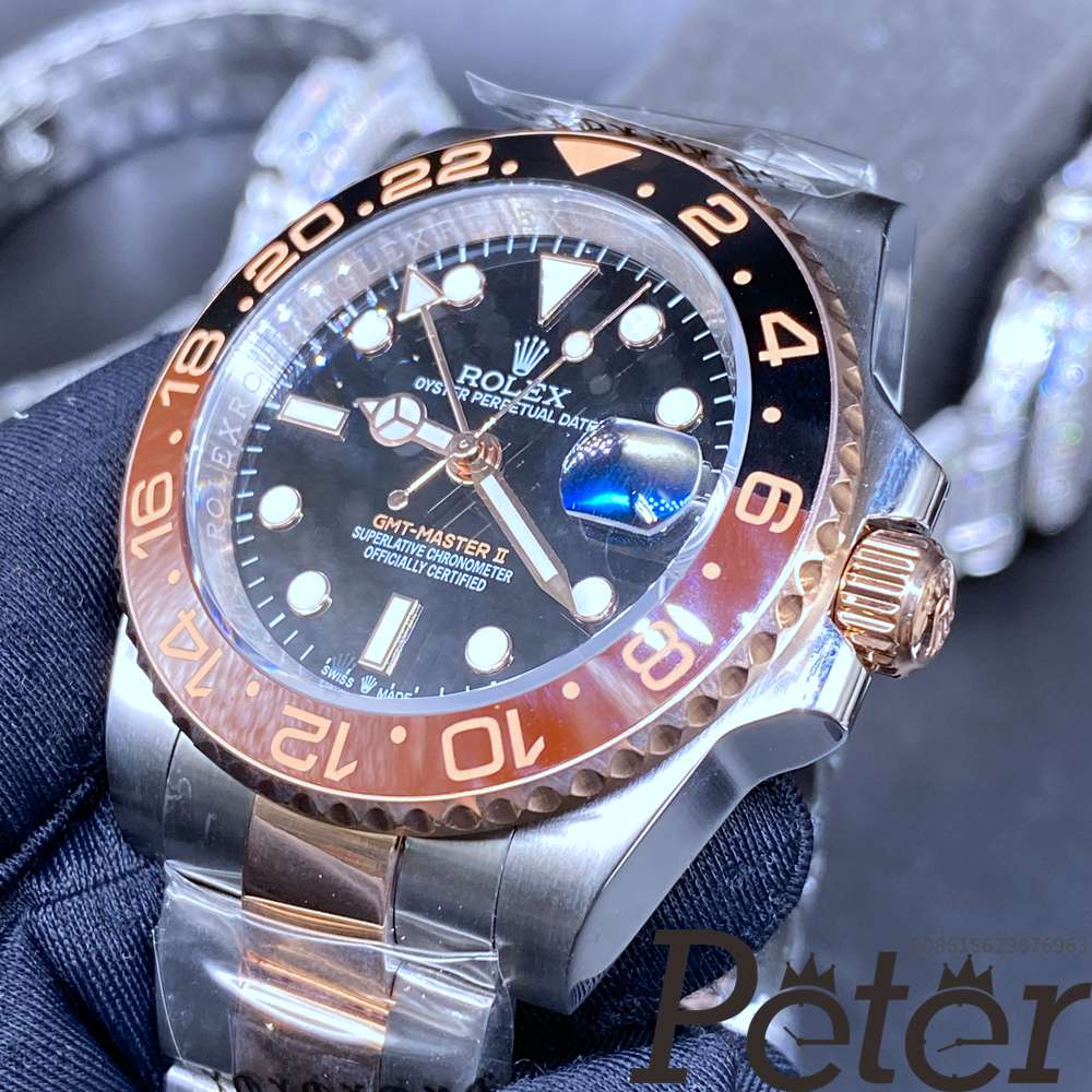 GMT two tone rose gold YT factory automatic 2813