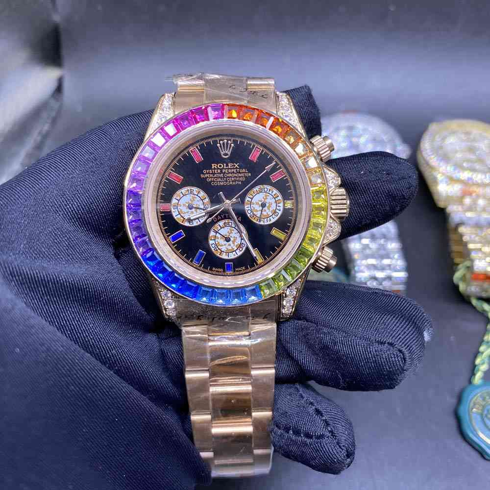 Daytona rose gold rainbow automatic AAA 40mm MH042