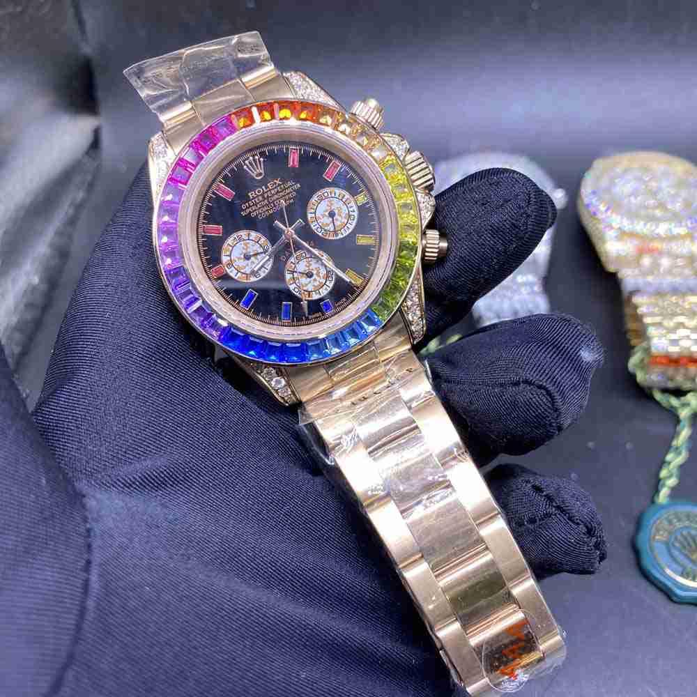 Daytona rose gold rainbow automatic AAA 40mm MH042