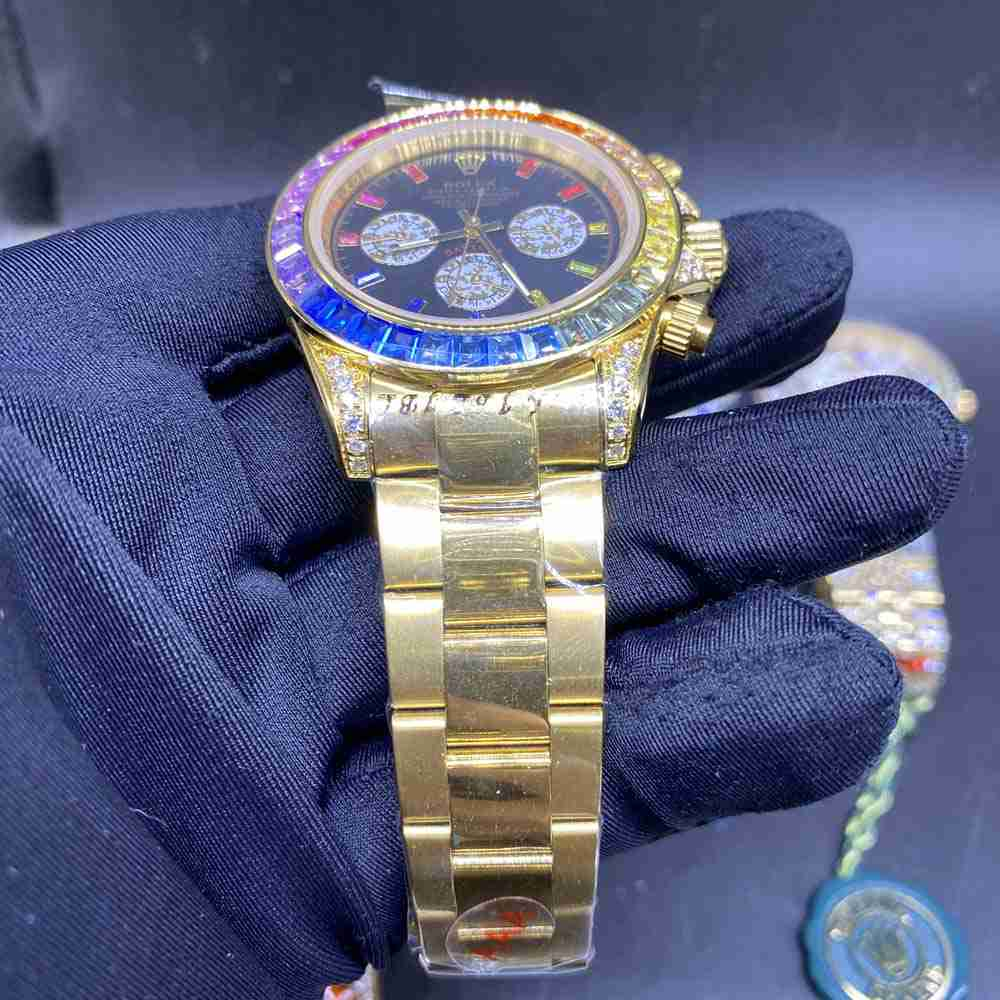 Daytona Rainbow gold case 40mm AAA automatic MH040
