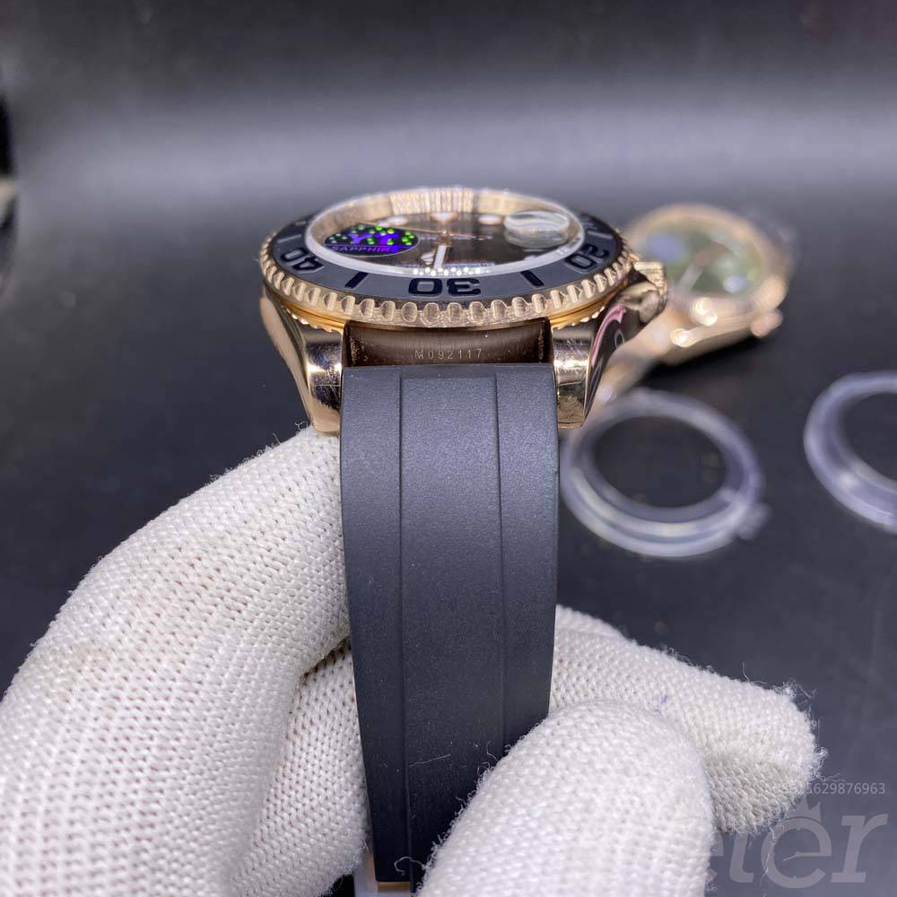 YM rose gold case black rubber strap YT factory 2813 AAA+ high quality