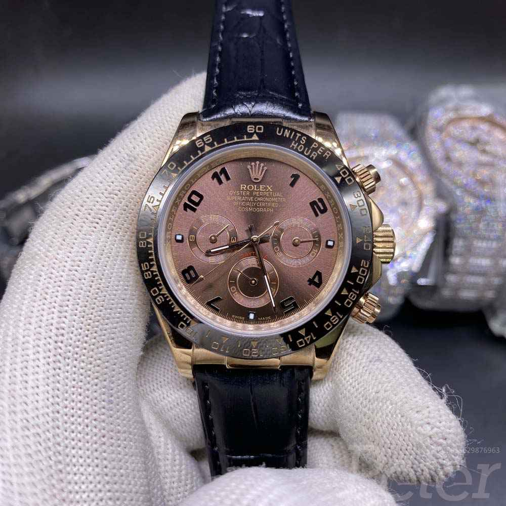 Daytona rose gold case brown dial AAA 40mm S021