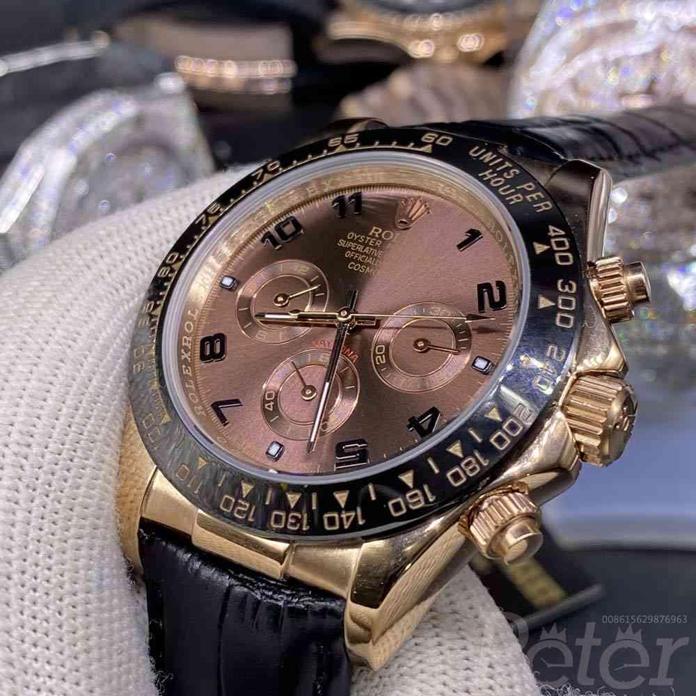 Daytona rose gold case brown dial AAA 40mm S021