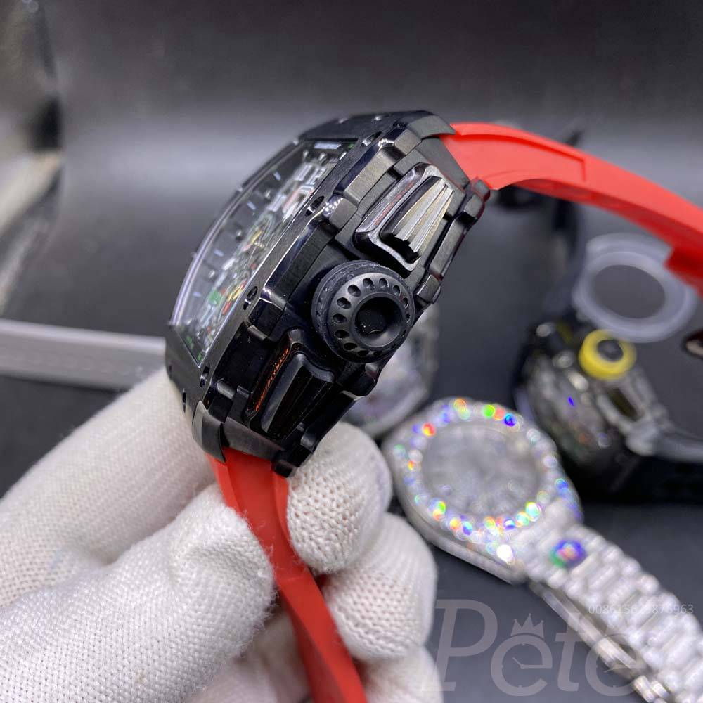 RM11-03 AAA black case red rubber automatic men watch M060
