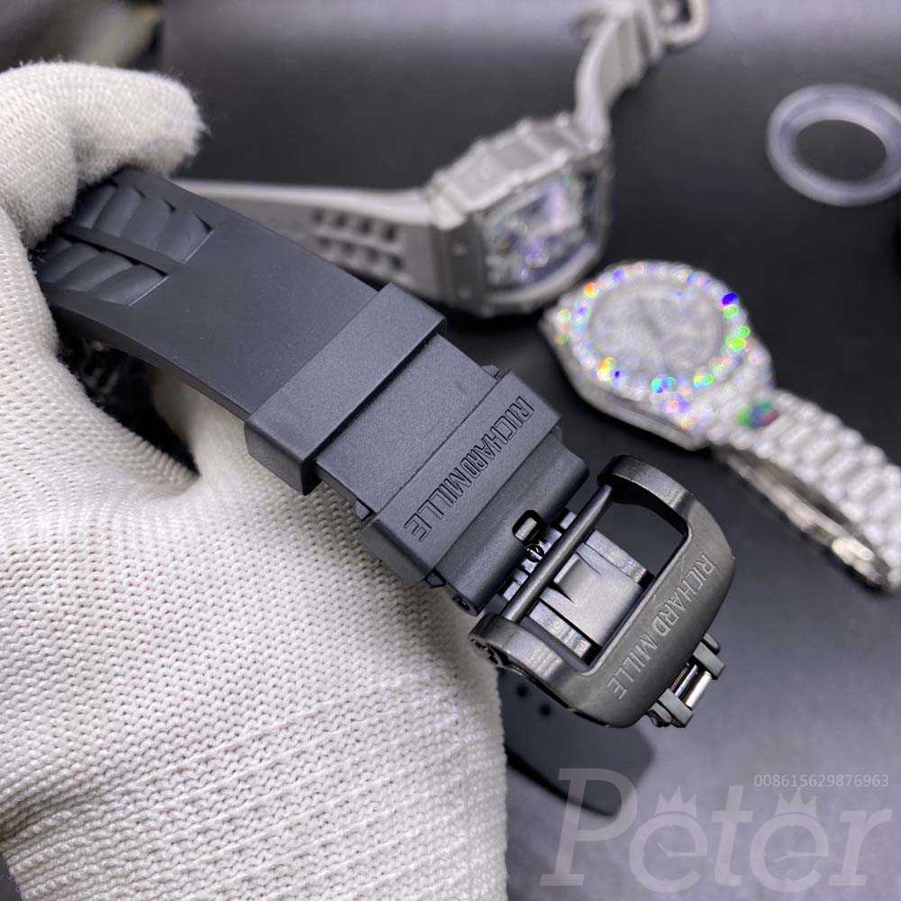 RM11-03 full black AAA automatic black rubber strap M060