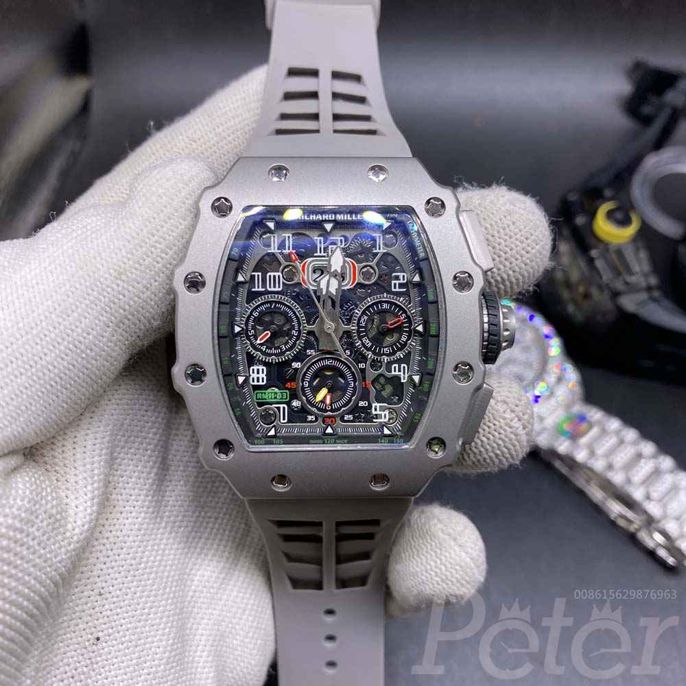 RM11-03 AAA gray case gray rubber men automatic M060