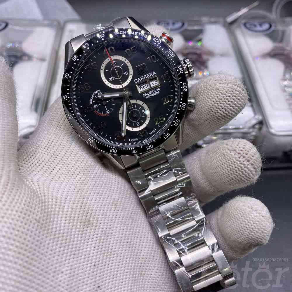 TAG Carrera Calibre 16 high grade 7750 movement full works stopwatch M125