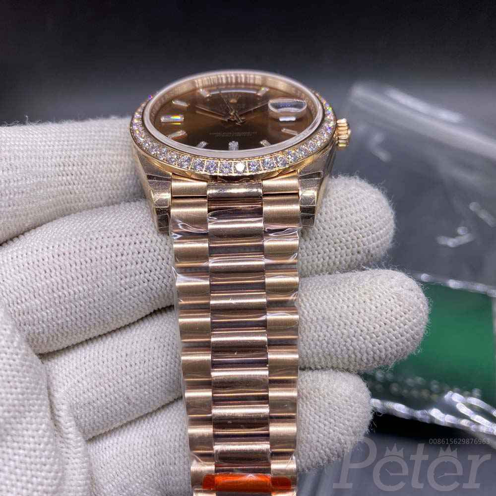 DayDate rose gold case brown dial EW factory 3255 Swiss grade automatic 39mm M145