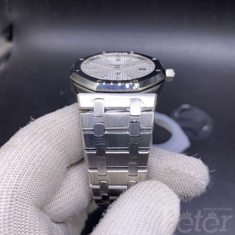 AP silver/white 9015 movement 39mm thin case watch WT135