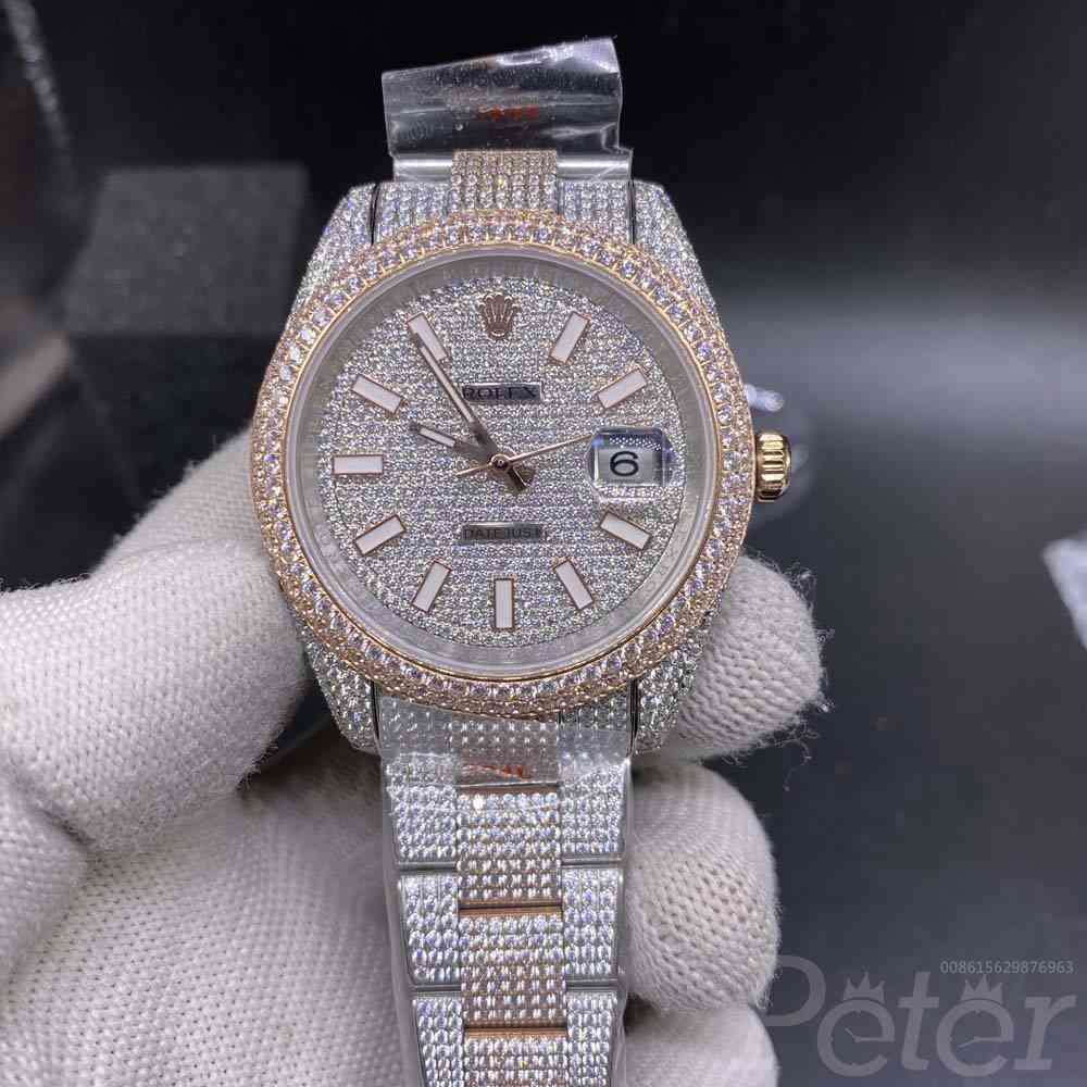 Datejust swarovski diamonds rose gold 2tone case 40mm XD290