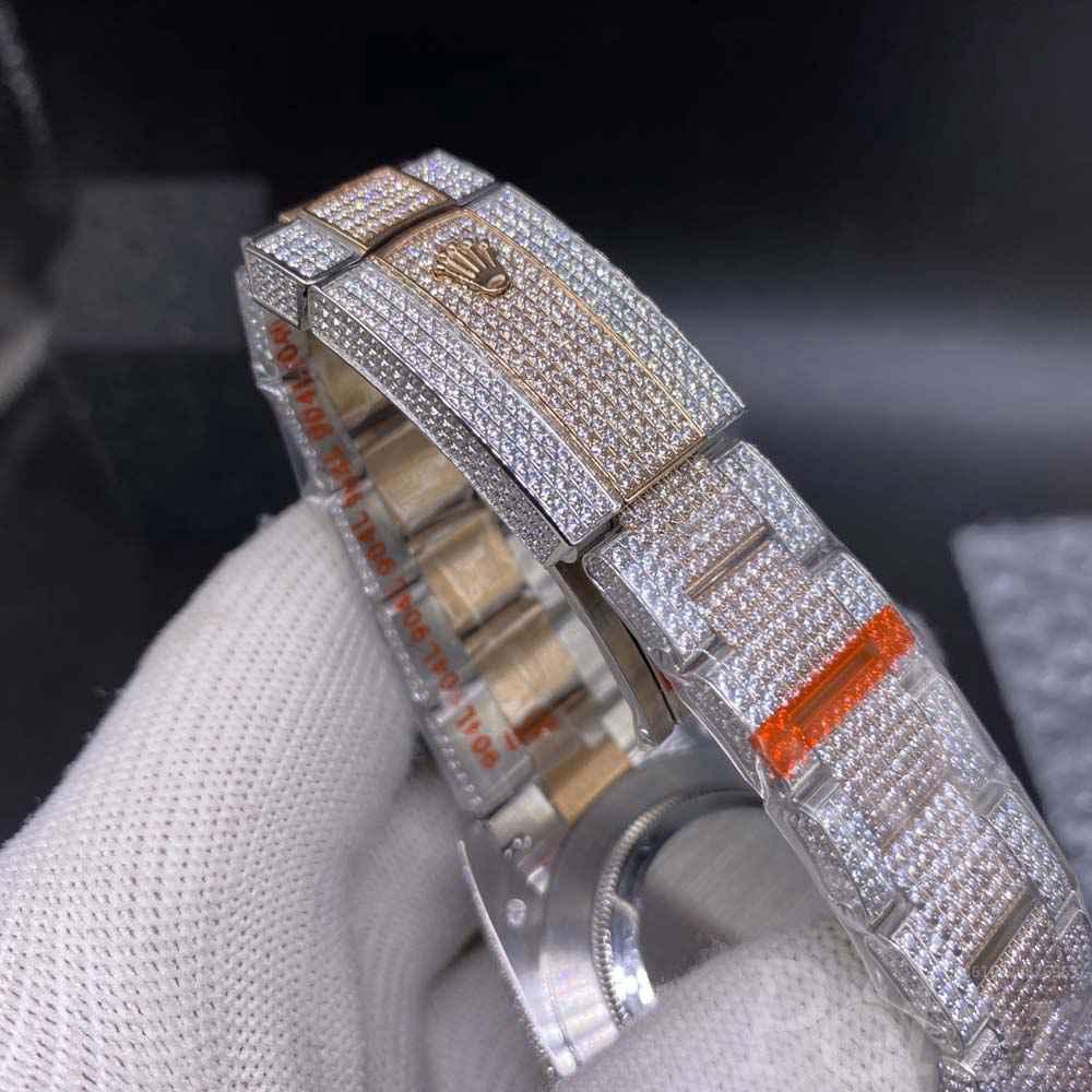 Datejust swarovski diamonds rose gold 2tone case 40mm XD290