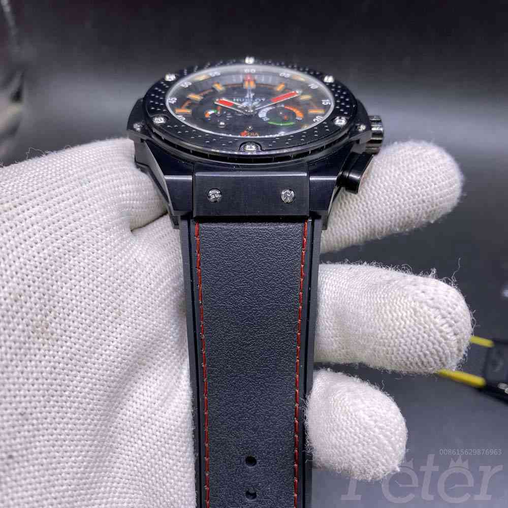 Hublot F1 Quartz full black AAA 46mm Zxxx