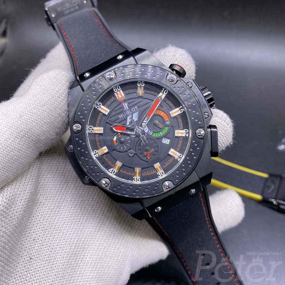 Hublot F1 Quartz full black AAA 46mm Zxxx