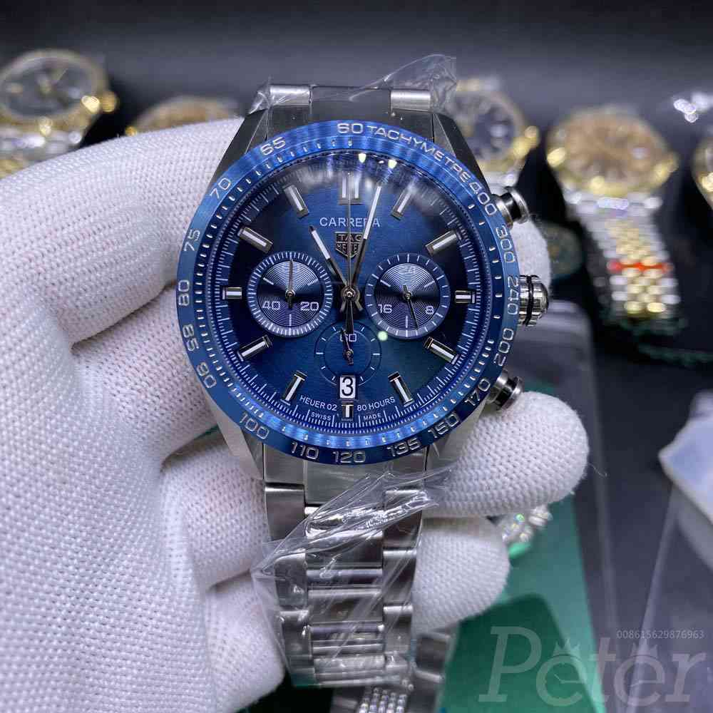TAG AAA quartz silver/blue 44mm M028