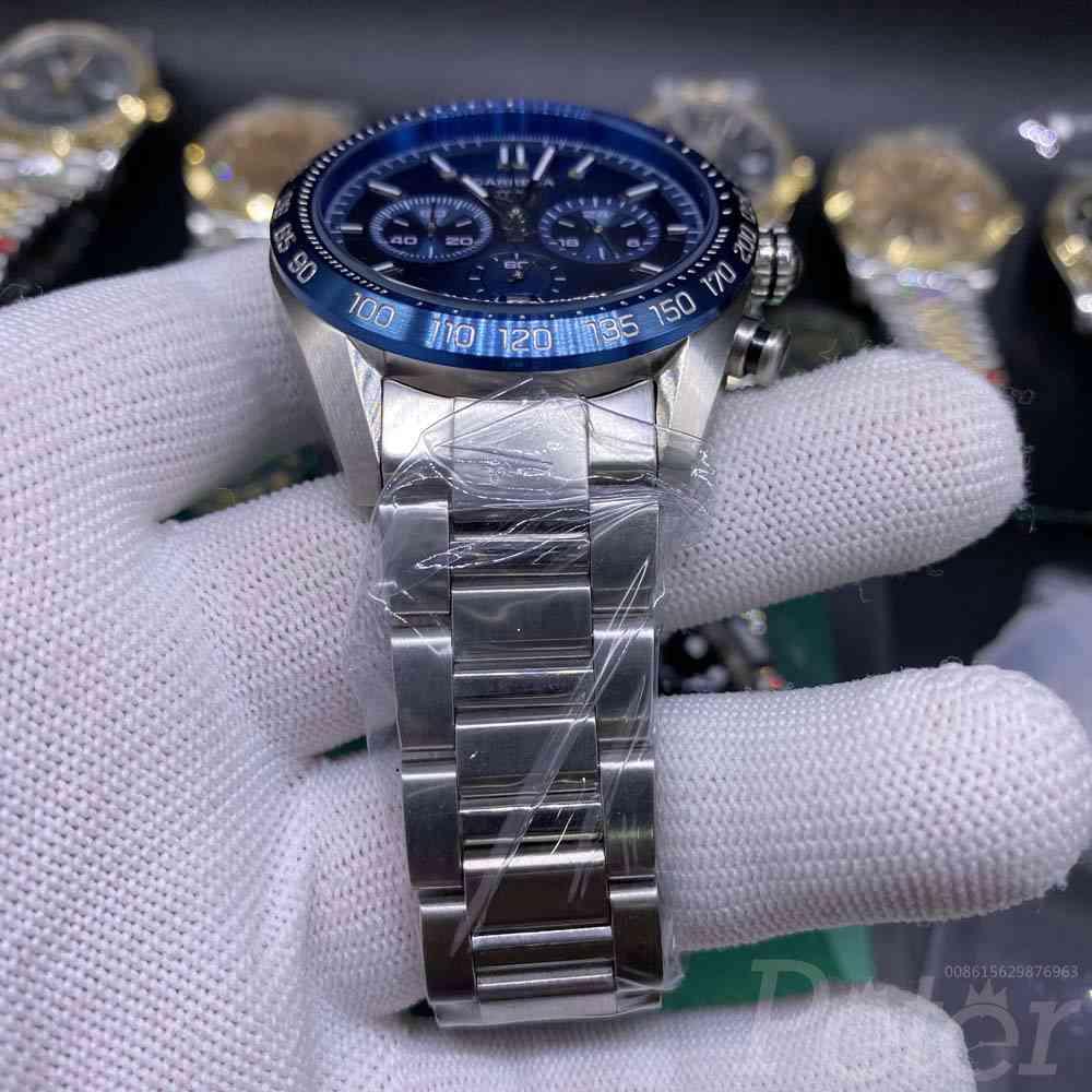 TAG AAA quartz silver/blue 44mm M028