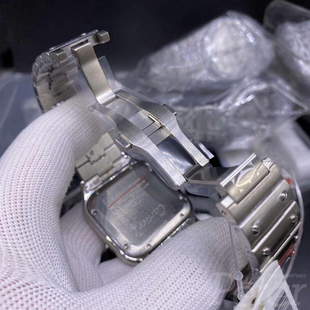 Cartier santos silver/white 38.5mm TW factory WT180