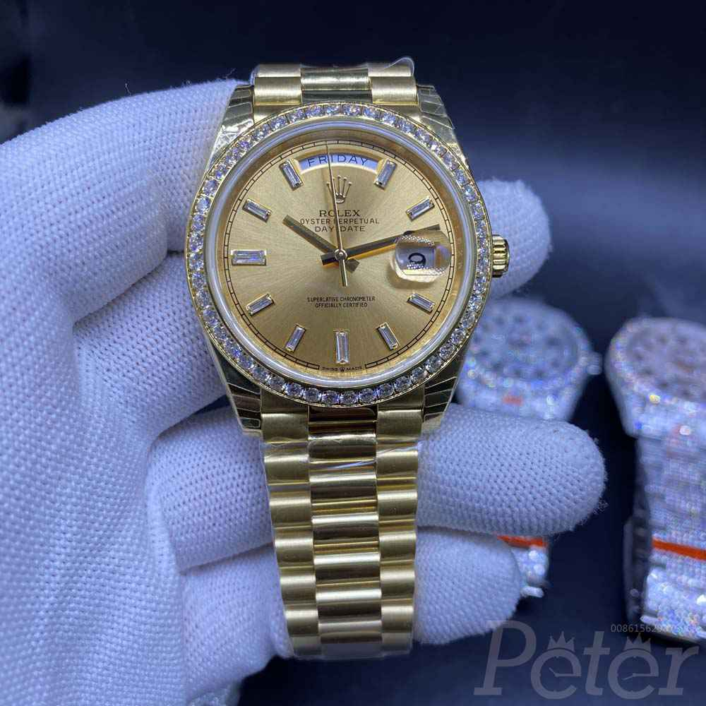 DayDate all gold EW factory 3255 movement diamonds bezel 39mm M145