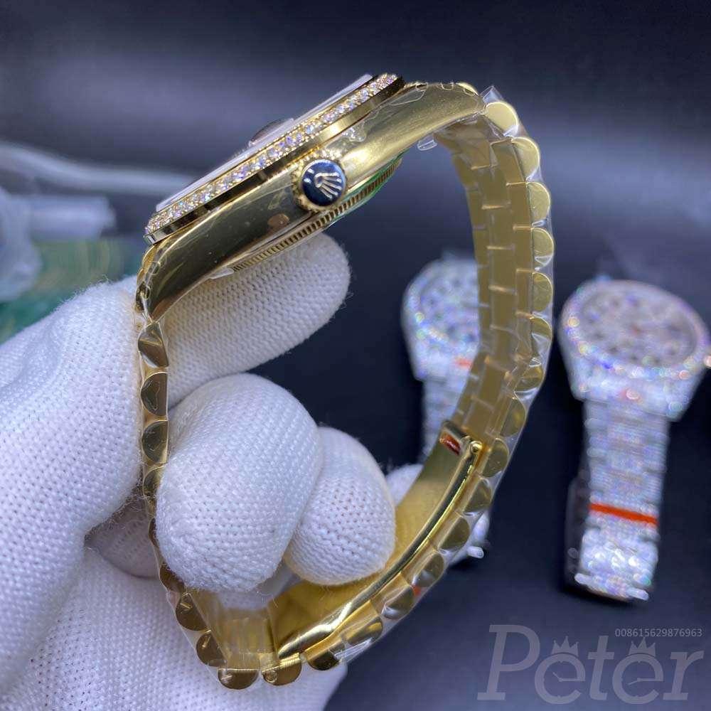 DayDate all gold EW factory 3255 movement diamonds bezel 39mm M145