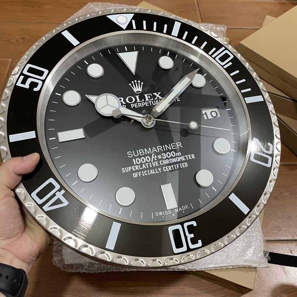 SUB wall clock silver/black 34cm 1.5kg