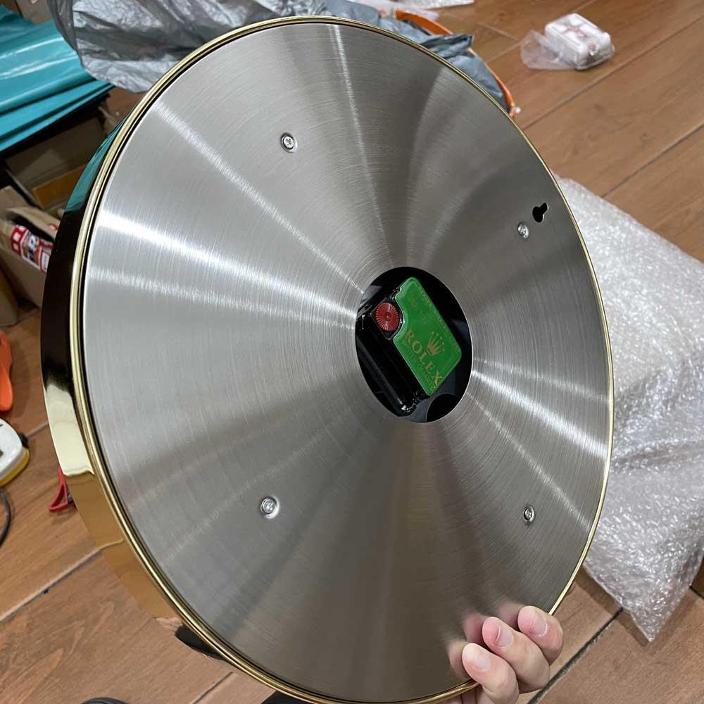 Daytona clock gold case green dial 34cm