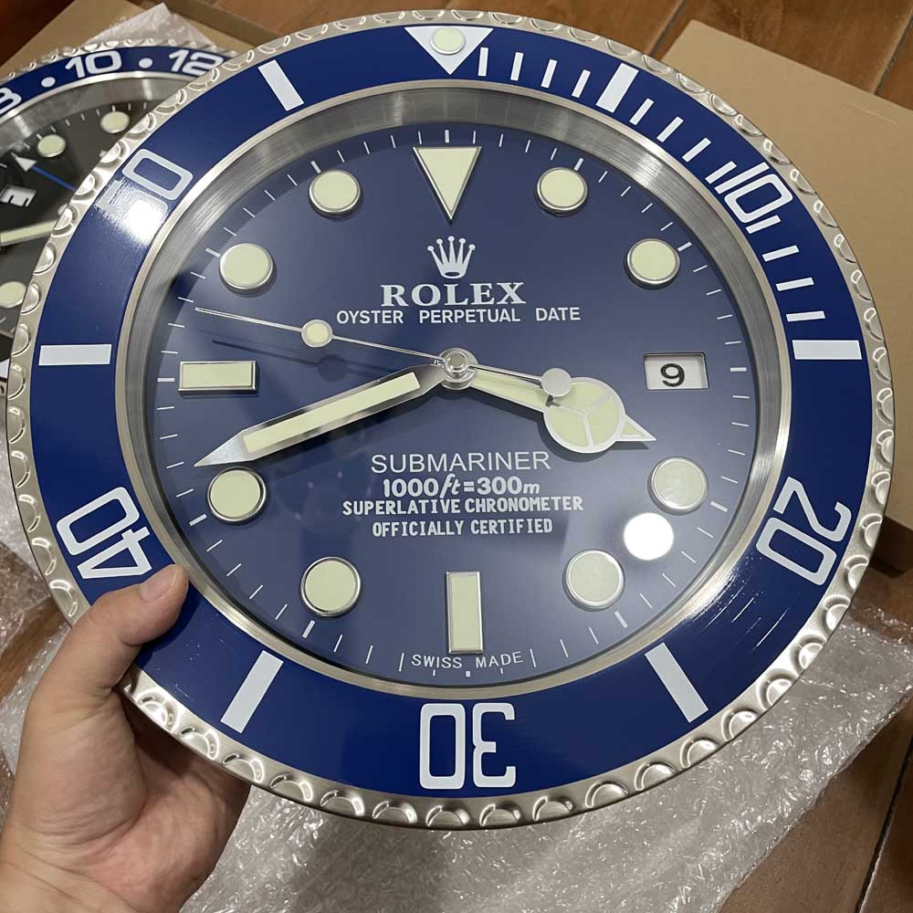 SUB wall clock blue face 34cm