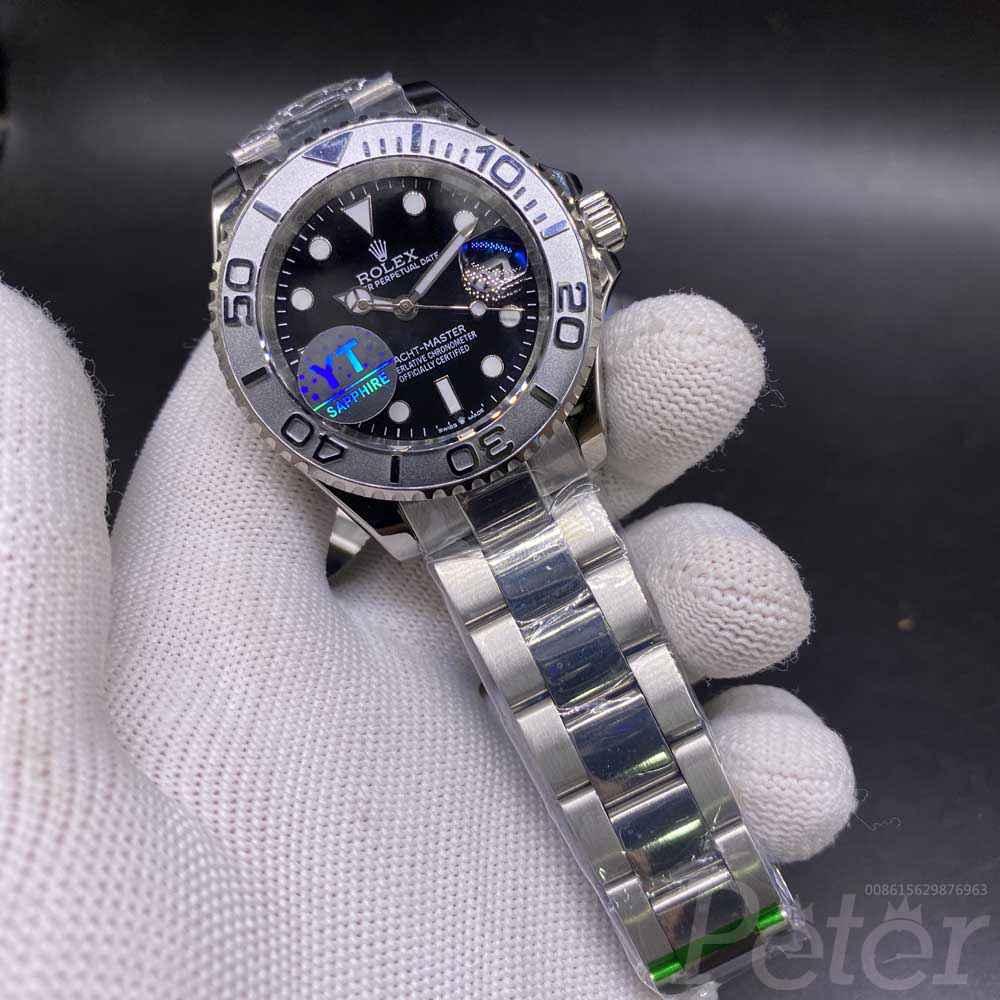 YM silver case silver bezel black dial YT factory 031