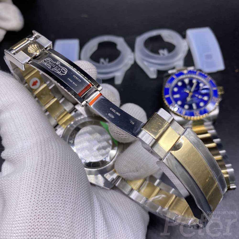 SUB two tone gold V3 verison 2813 movement blue face black face high quality M050
