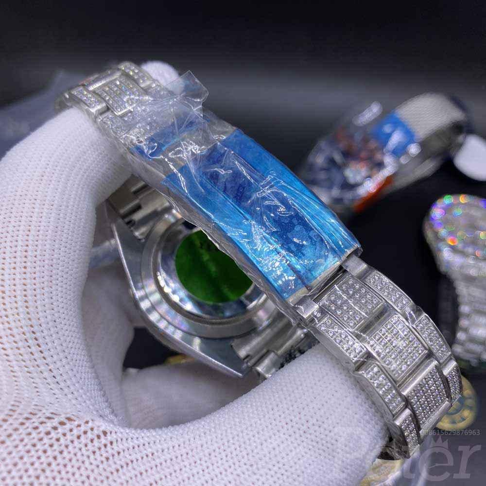 Rolex SUB blue full diamonds case 40mm AAA automatic MH105