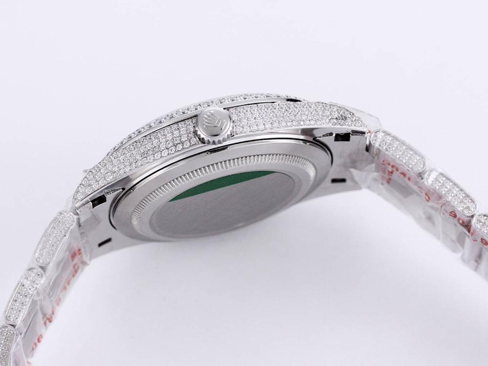Datejust 39mm ETA 2824 movement bustdown diamonds high quality roman nmumbers M250