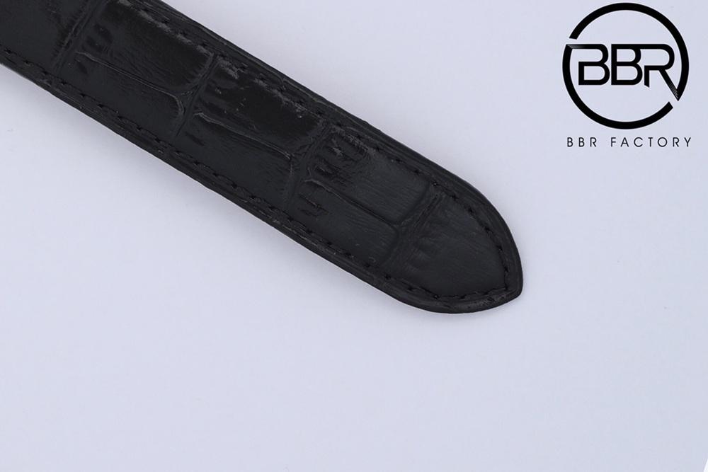 Cartier BBR2021 real tourbillon silver case black leather WTxxx