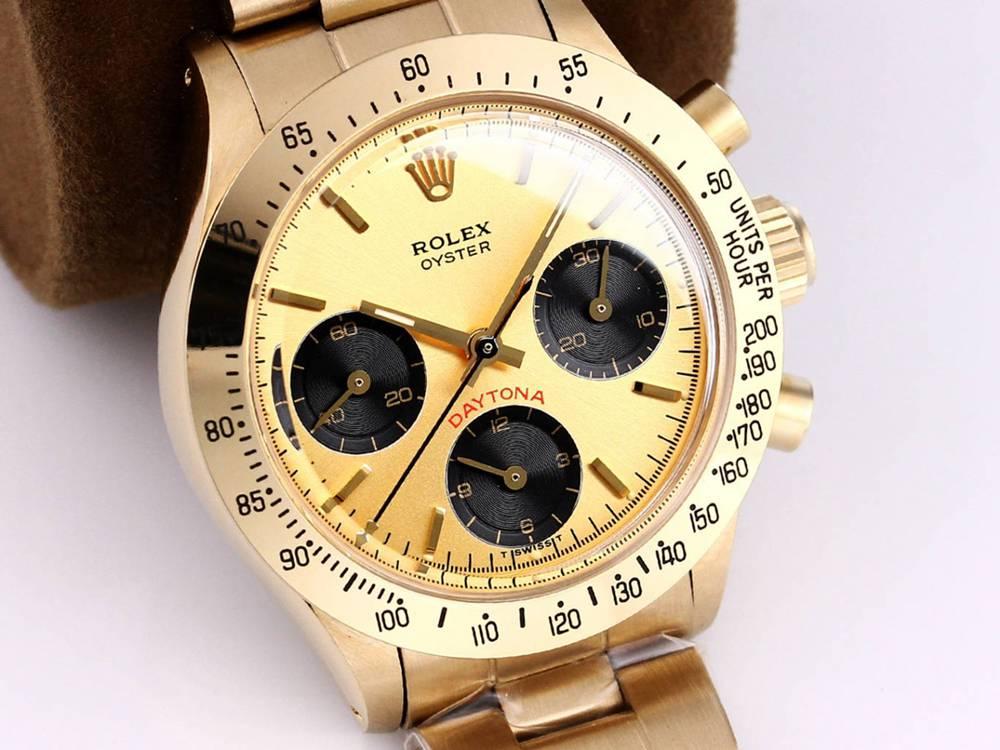 Daytona Paul Newman gold case 37.5mm gold dial hands-winding 7750 M095