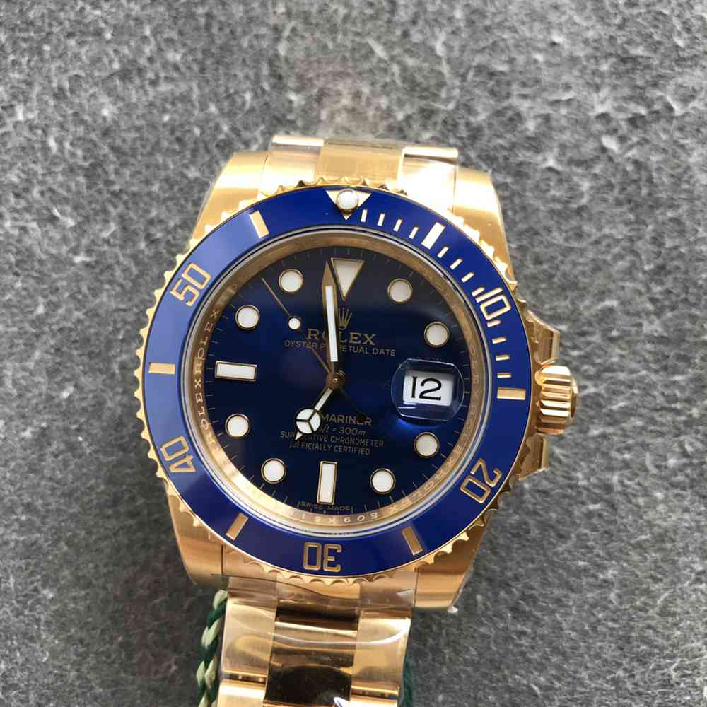 SUB Gold case blue dial VS factory 3135 movement 41mm