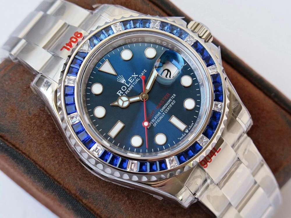 YM blue stones blue face 904L steel ROF 2020 2824 sapphire crystal WTxxx