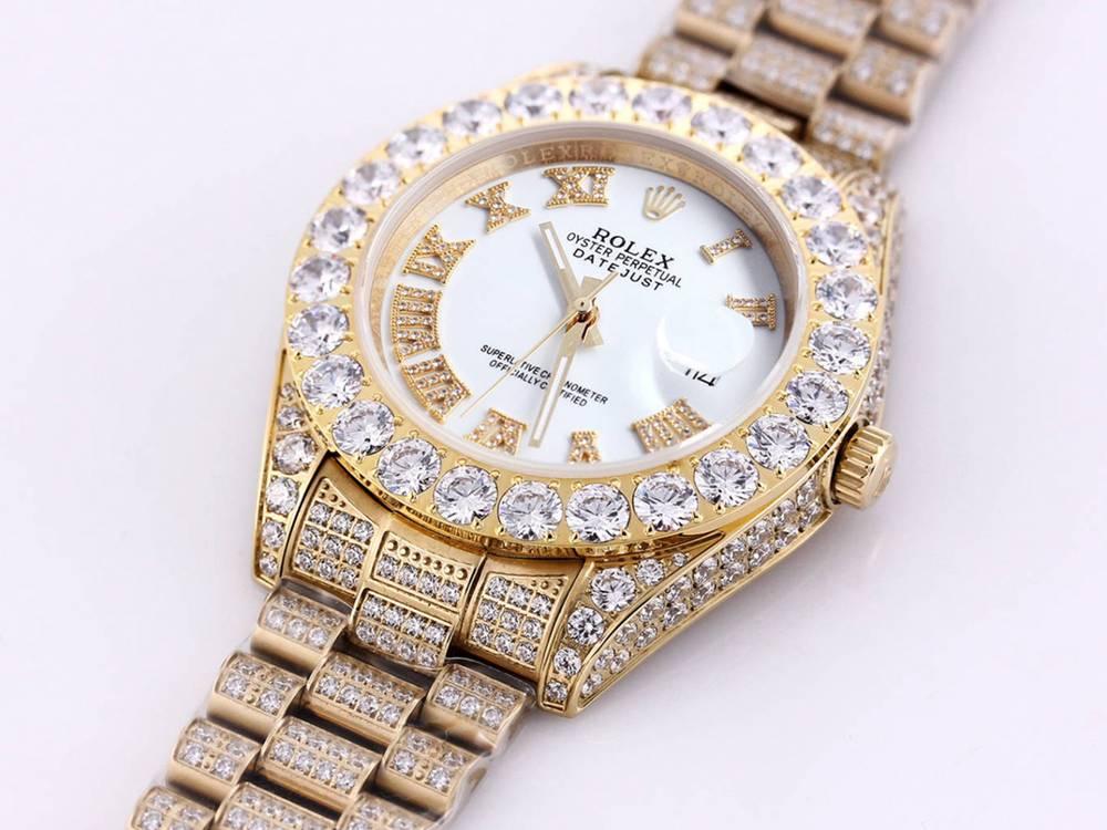 Datejust white face diamonds gold case 43mm M090