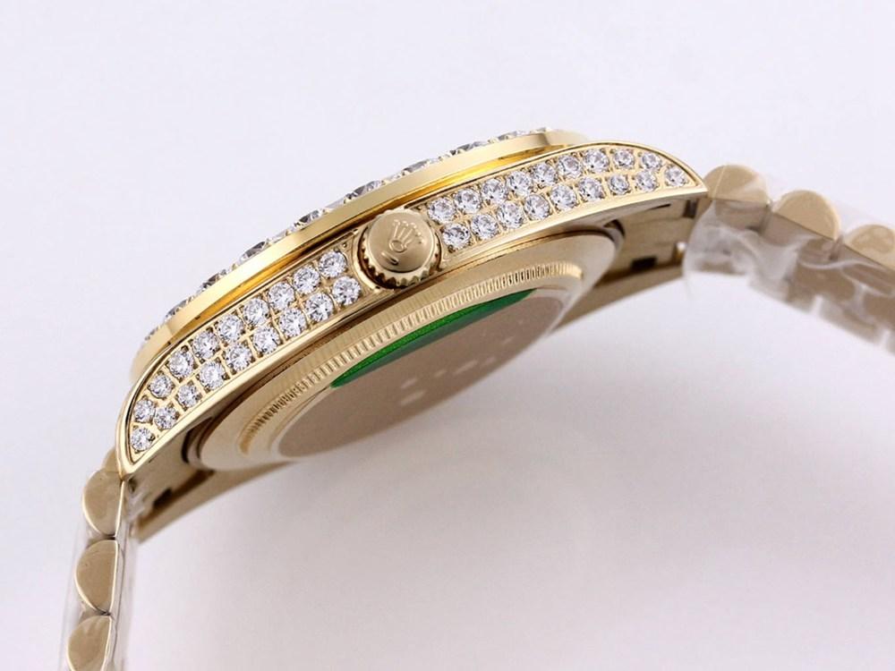 Datejust blue dial diamonds gold case 43mm M090