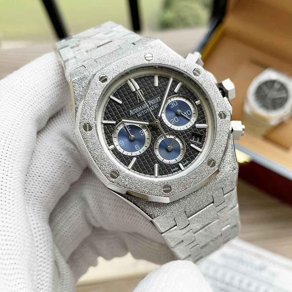 AP frosted silver case 41mm quartz movement WS055